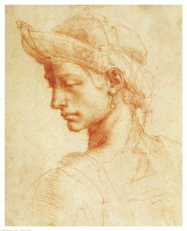 michelangelo-buonarroti-drawing-of-a-woman