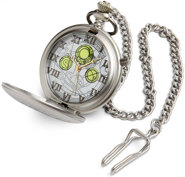 Dr. Who pocket watch... my daughter gave one.