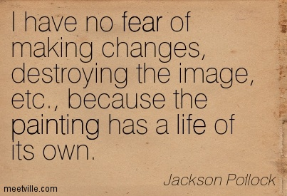 Jackson Pollock Painting Quote
