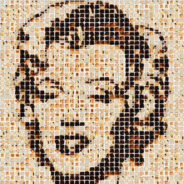 Marilyn (done with toast) by Henry Hargreaves, food photographer.