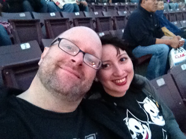 Isa & I at Jones Beach on her birthday 2012. My final Kiss concert.